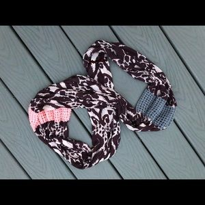 Anthropologie mixed media purple infinity scarf